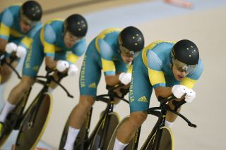 Australias Jack Bobridge Australias Alexander Edmondson Australias Michael Hepburn and Australias Sam Welsford compete in the mens Team Pursuit finals track cycling event at the Velodrome during the Rio 2016 Olympic Games in Rio de Janeiro on August 12 2016 Photo by Odd Andersen AFP Photo by ODD ANDERSENAFP via Getty Images