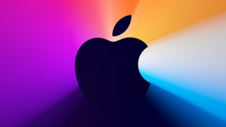 Apple Logo with colorful background
