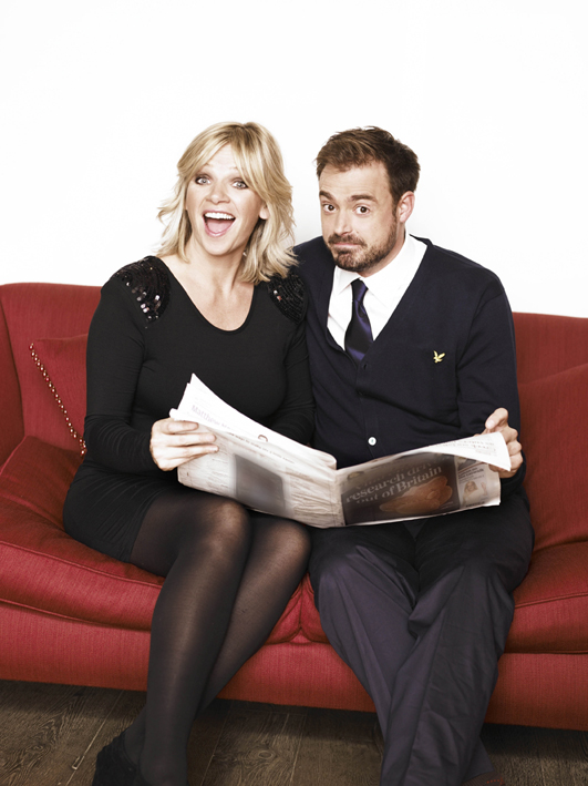 A quick chat with Zoe Ball and Jamie Theakston