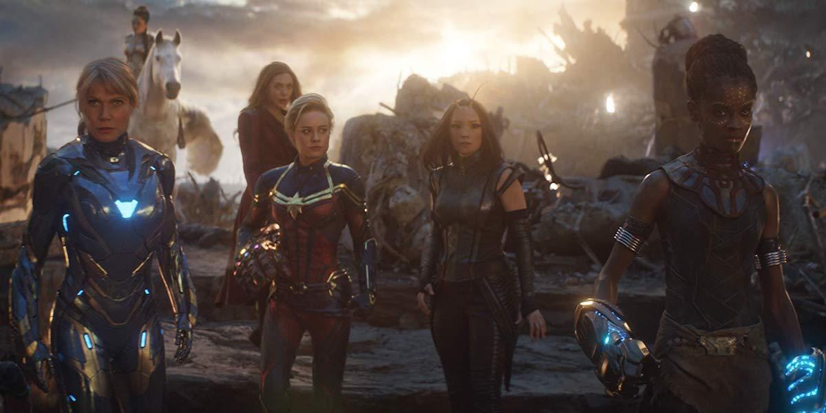 Pepper Potts, Captain Marvel, Scarlet Witch, Mantis and Shuri in Avengers: Endgame
