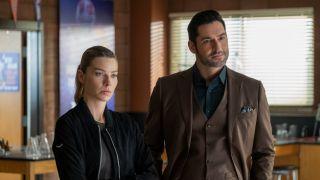 Tom Ellis and Lauren German in Lucifer Season 5