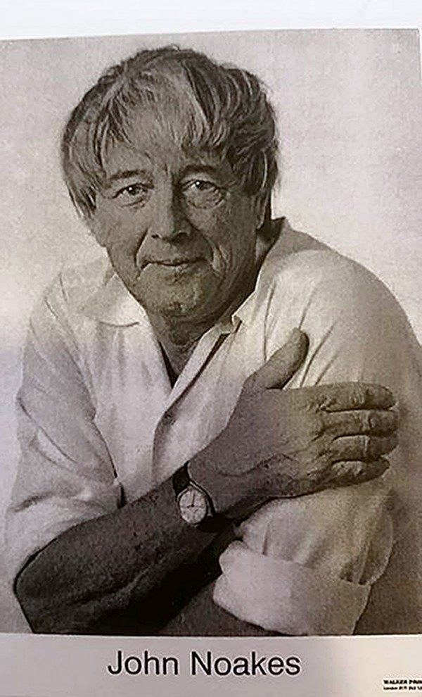 photo issued by the Andratx town hall of a poster for former Blue Peter presenter John Noakes