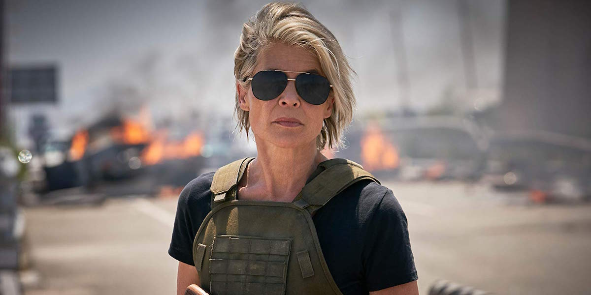 Linds Hamilton as Sarah Connor in Terminator: Dark Fate