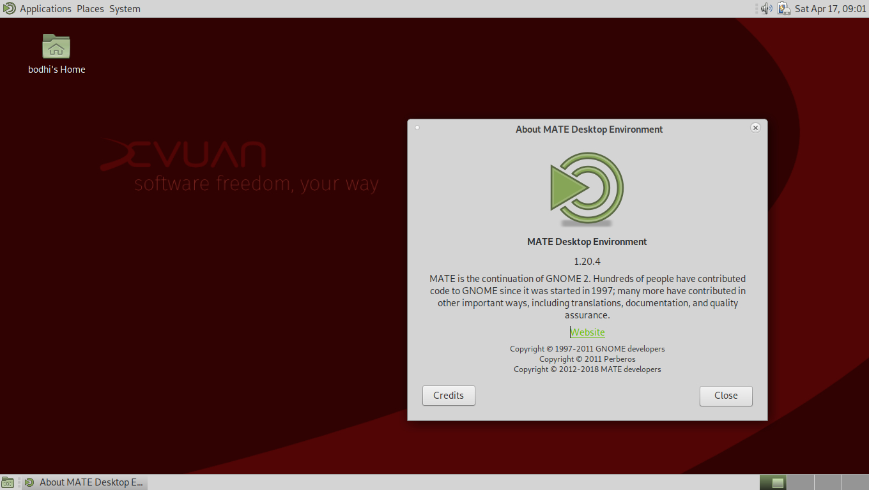 Screenshot of Devuan GNU+Linux distro 5