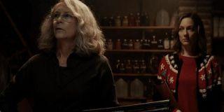 Jamie Lee Curtis and Judy Greer in Halloween