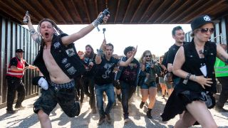 Copenhell punters storming the gates