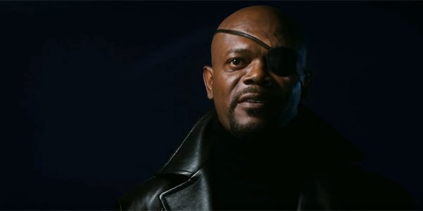 Nick Fury in Iron Man's post-credits scene