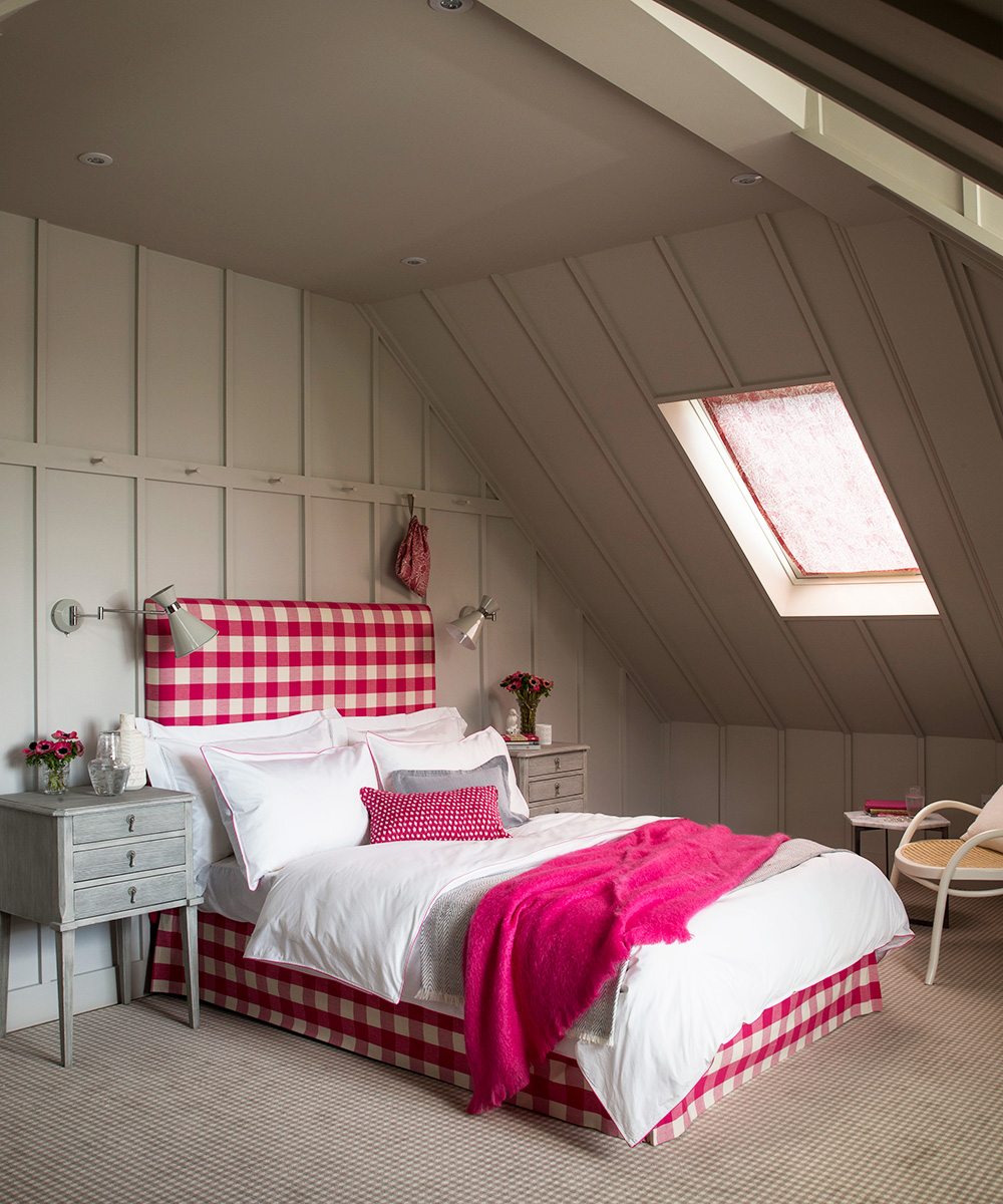 Country cottage bedroom with a smart choice of colour | Homes & Gardens