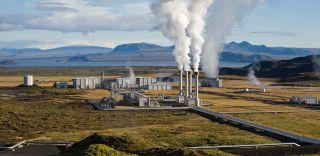 A geothermal power plant in Iceland, alternative energy sources