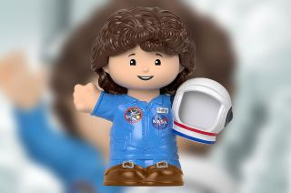 """Sally Ride, the first American women to fly into space, is celebrated as a Fisher-Price Little People Collector figure in the new """"Inspiring Women"""" set coming out Oct. 3, 2021."""