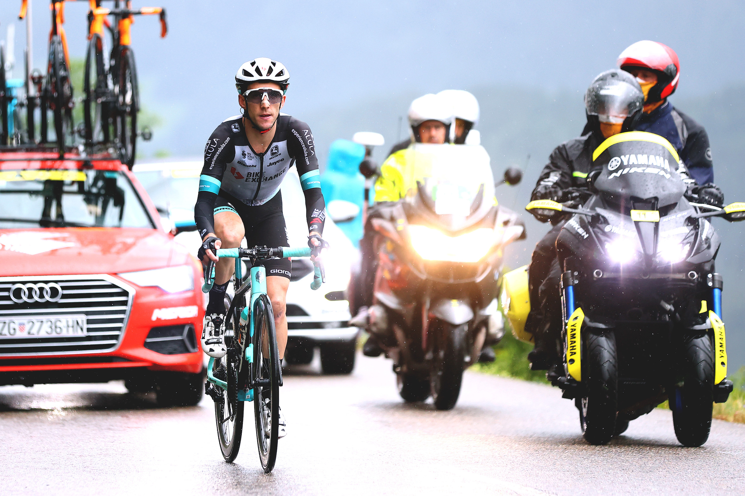 Simon Yates riding at the Tour de France 2021