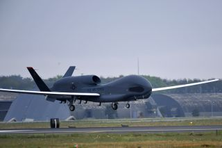 An RQ-4 Global Hawk from Andersen Air Force Base