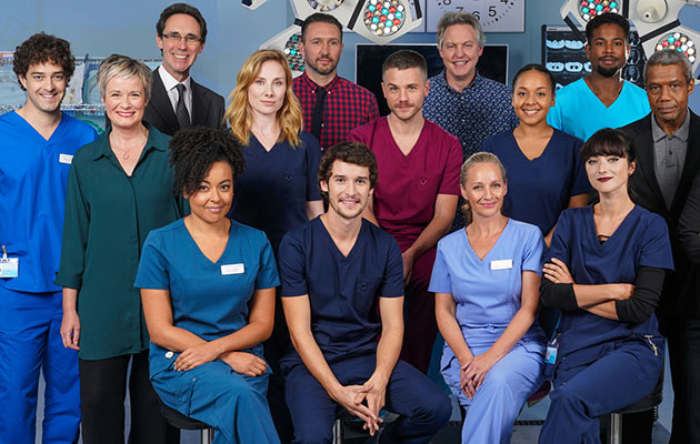 The Holby City cast (pictured) are like a big family, but who is Bob Barrett related to?