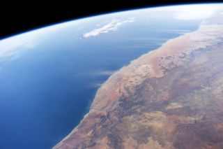 Dust plumes off Namibia