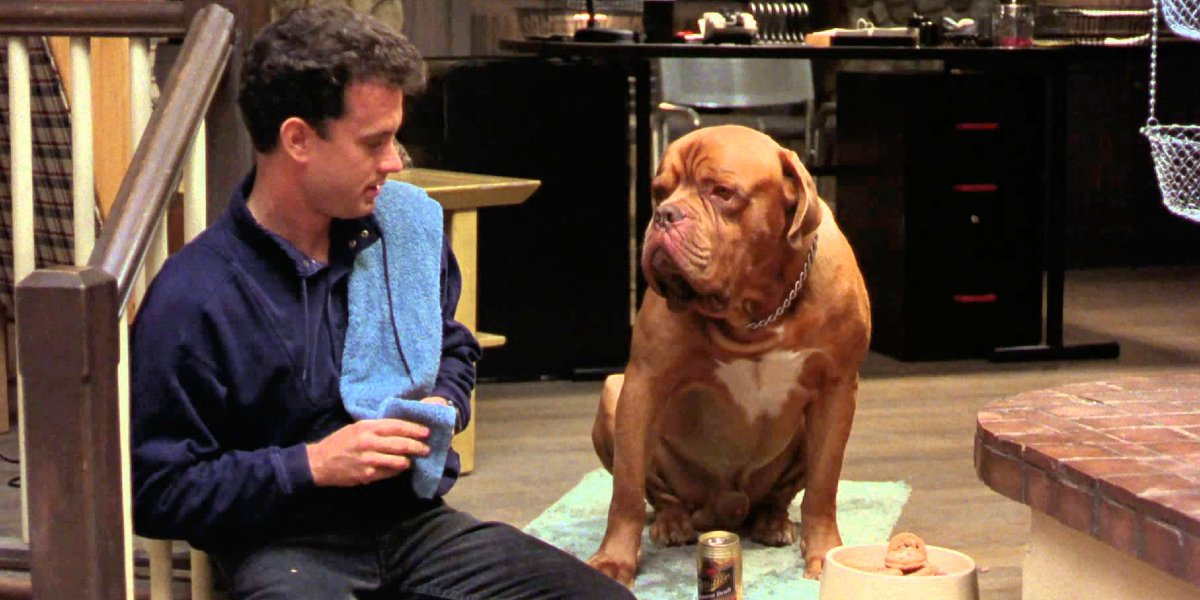 Tom Hanks and Beasley the Dog in Turner and Hooch
