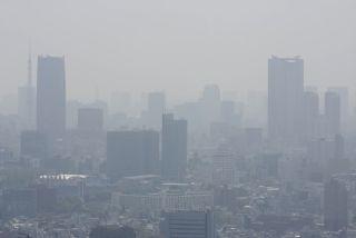 Smog over Tokyo.
