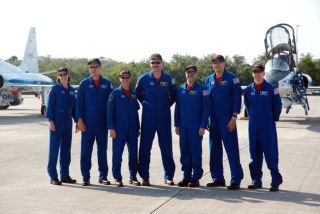Astronauts Arrive at Spaceport for Hubble Mission