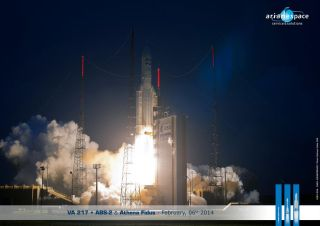 Ariane 5 Rocket Launches Two Satellites