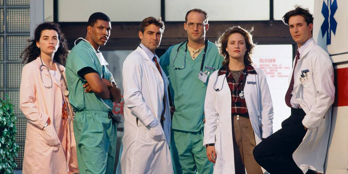 Some of the cast of ER.