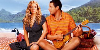 50 First Dates Adam Sandler plays ukulele to a confused Drew Barrymore