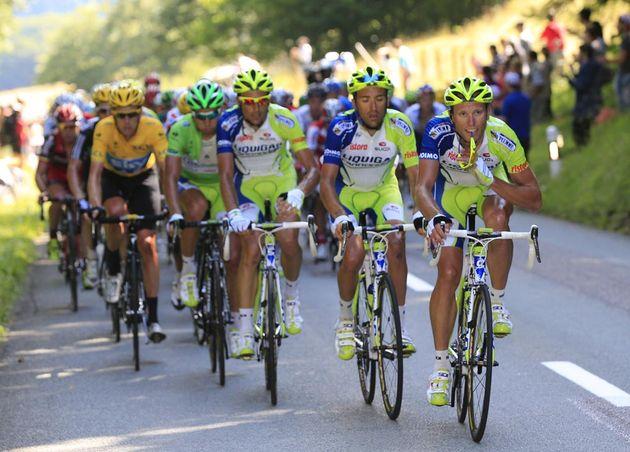 Liquigas-Cannondale chase, Tour de France 2012, stage eight