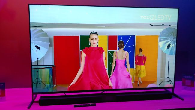 One of TCL's new 8K TVs. Image Credit: Future