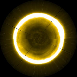 sun's north pole composite image