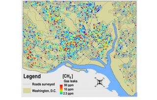 DC gas leak map