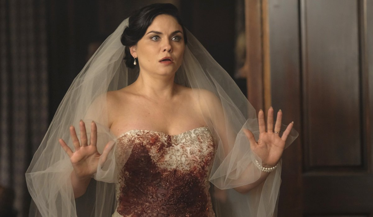 Jo Laughlin in bloody wedding dress returns Legacies Season 1
