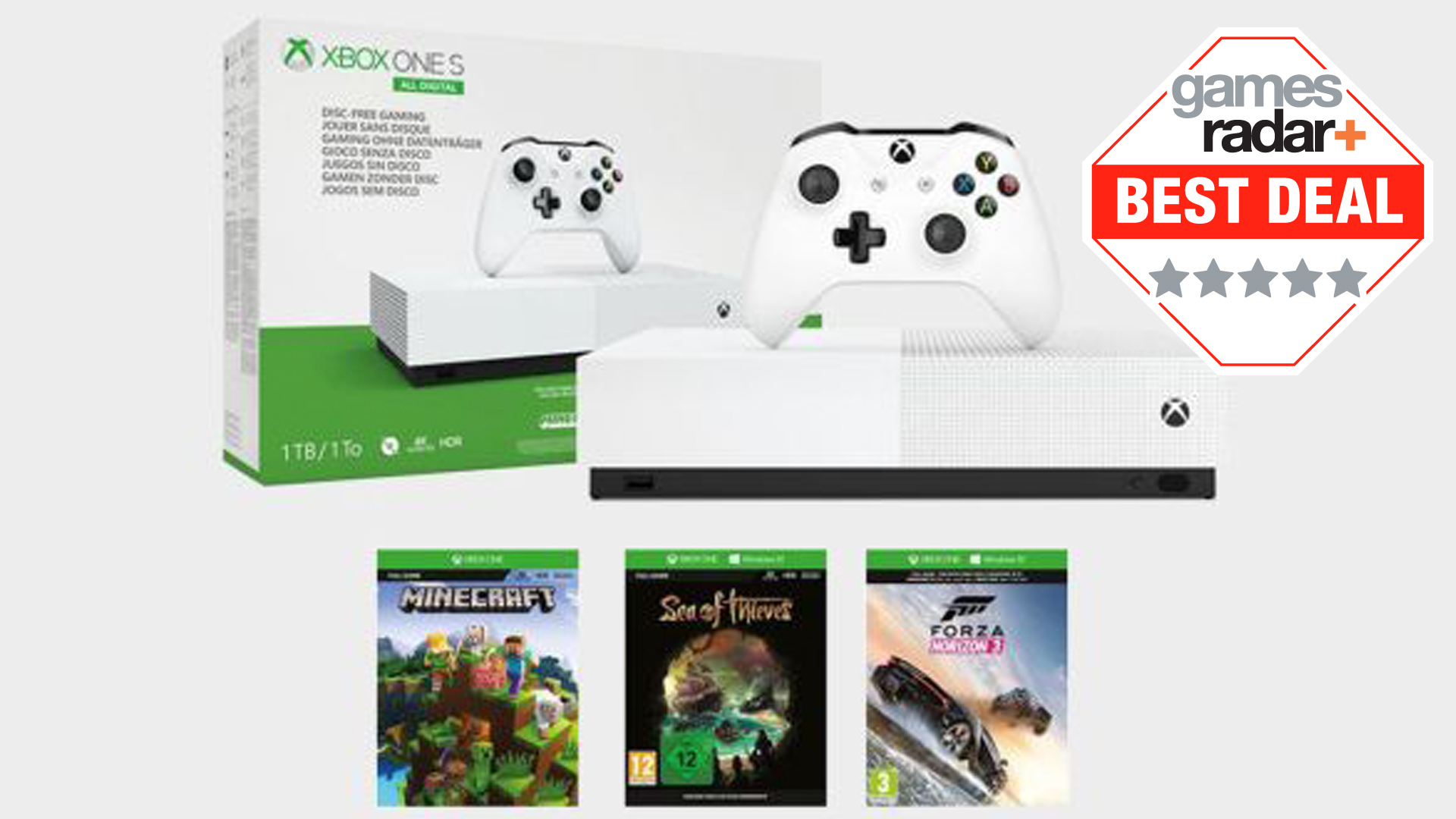 Quick Xbox One S All Digital Console Deal With 3 Games Is A Steal For Just 149 Gamesradar