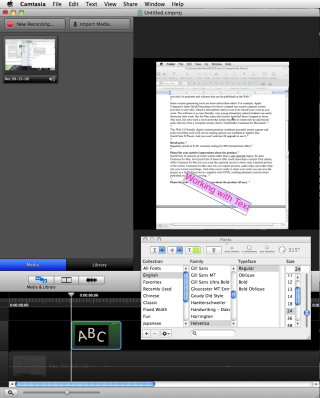 Put to the test: Camtasia for Macintosh from Techsmith