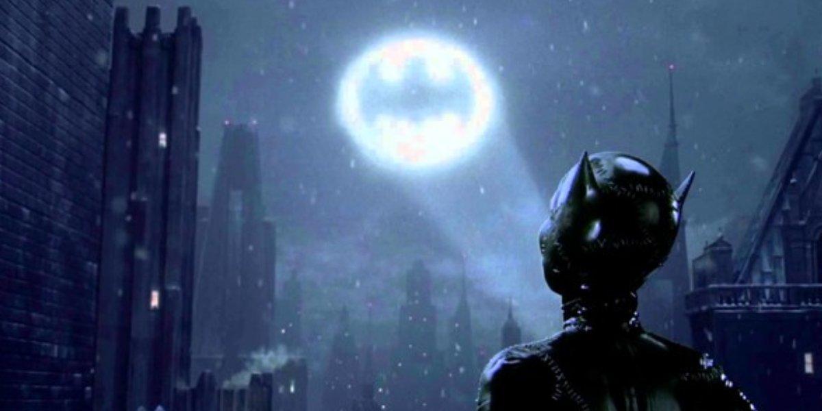 Not Michelle Pfieffer as Catwoman in the final shot from the Batman Returns ending