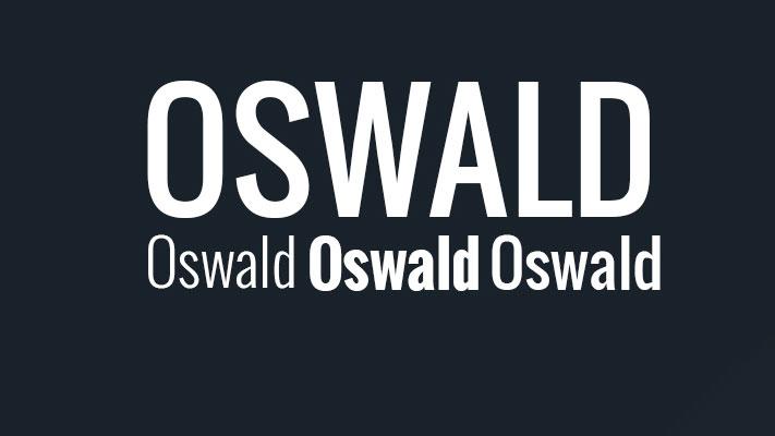 Oswald serif font sample