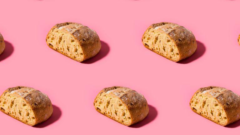 Healthy flour alternatives bread repeating pattern