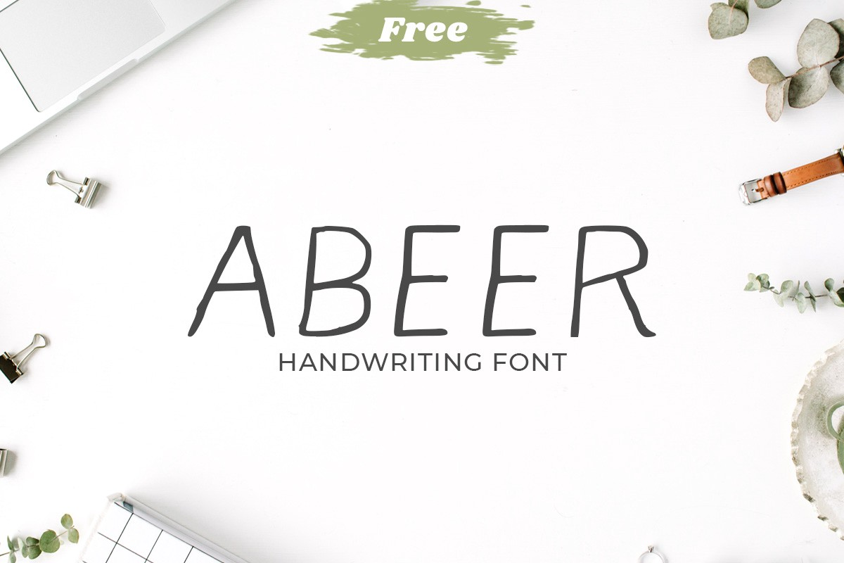 Free handwriting fonts: Abeer