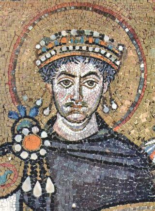 mosaic of Byzantine emperor Justinian I