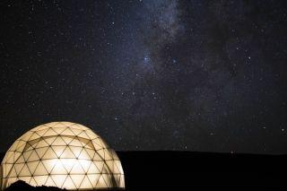 Milky Way Over 'Mars'