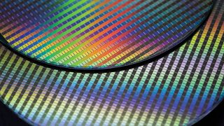 TSMC wafers on top of one another