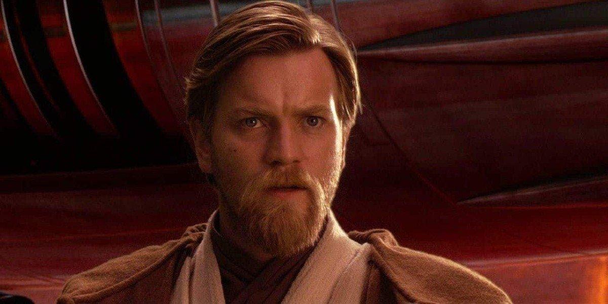 Obi-Wan Kenobi (Ewan McGregor) is stunned in Star Wars: Episode III - Revenge of the Sith (2005)