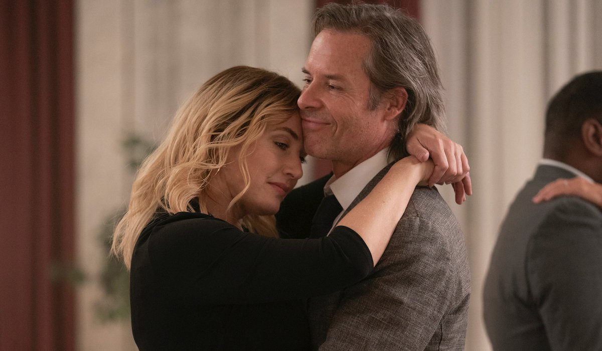 kate winslet and guy pearce dancing in hbo's mare of easttown