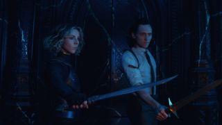 Loki actor Tom Hiddleston and Sophia Di Martino in episode 6