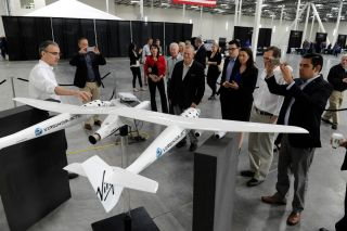 Rep. Rohrabacher at New Virgin Galactic Plant