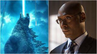 Godzilla in Godzilla and Lance Reddick in John Wick