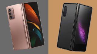 Samsung Galaxy Z Fold 2 (L) vs Samsung Galaxy Fold (R)