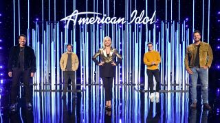 American Idol 2021 judges Lionel Ritchie, Katy Perry and Luke Bryan with host Ryan Seacrest and in-house mentor Bobby Bones.