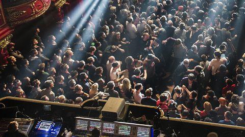 Crowd at a prog gig