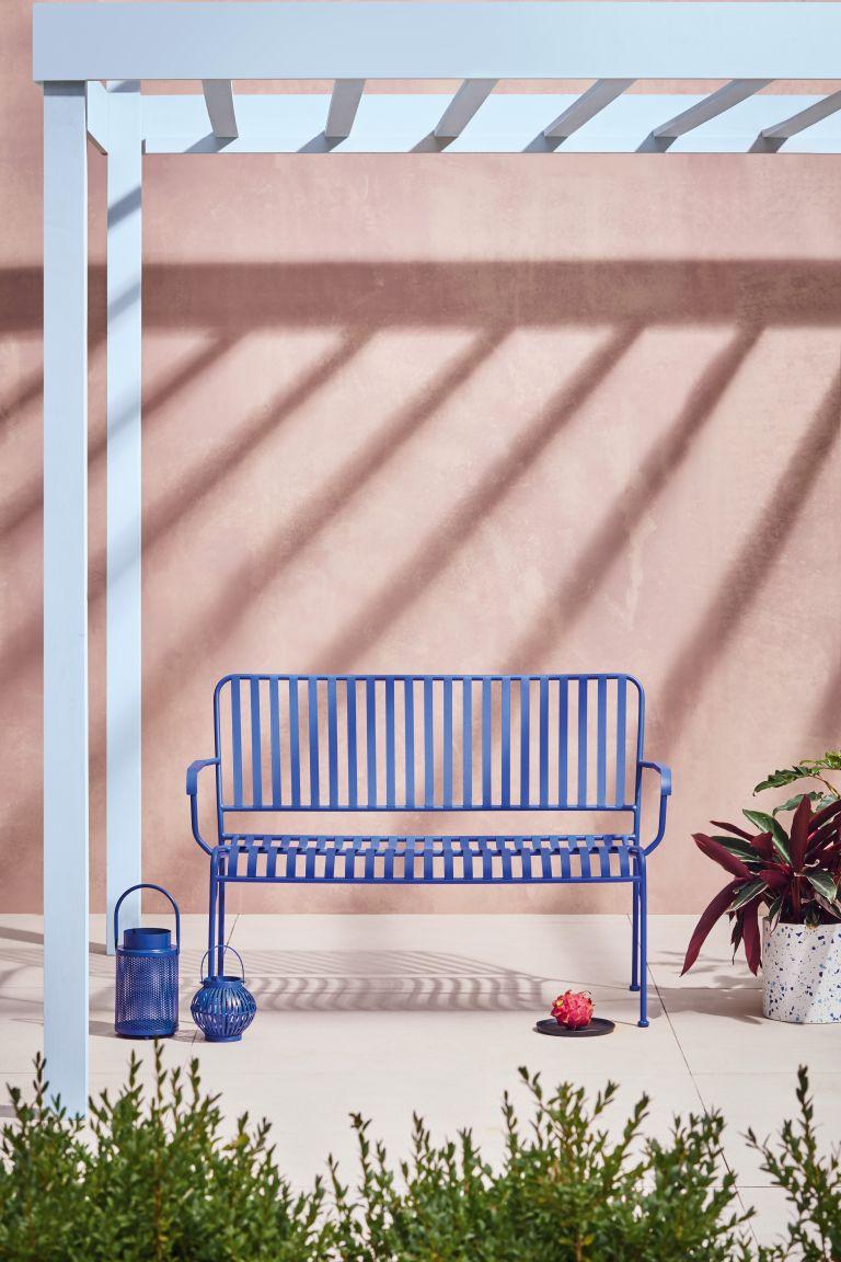 Blue bench by Habitat