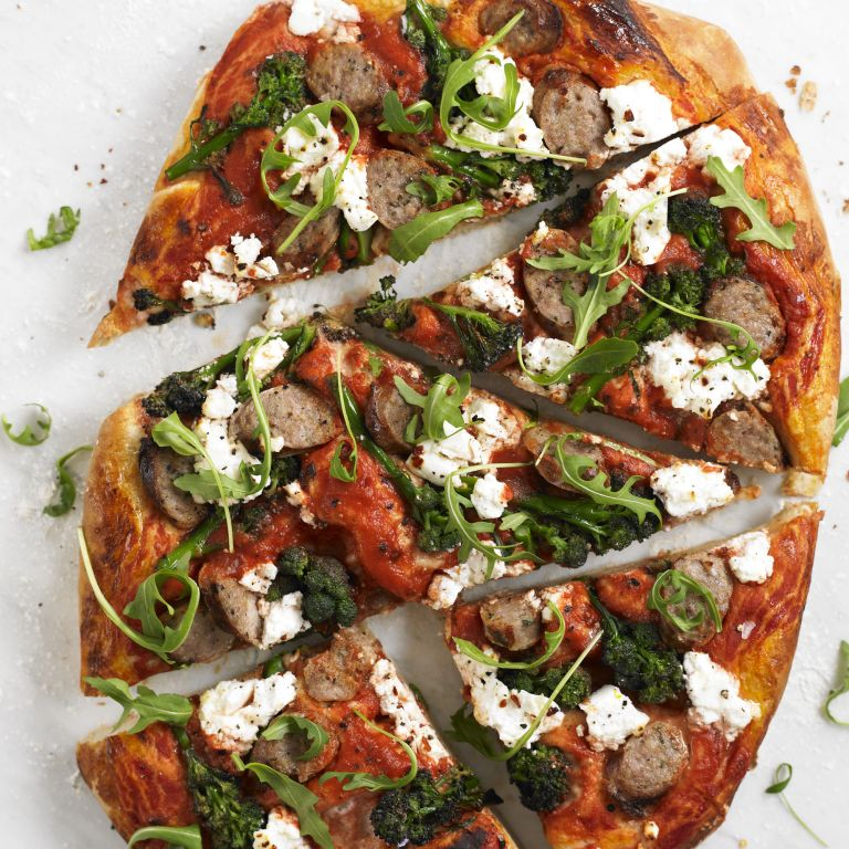 Spicy sausage, broccoli and ricotta pizza Recipe-recipes-recipe ideas-new recipes-woman and home