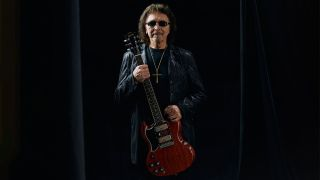 Tony Iommi with his new signature Gibson SG Special