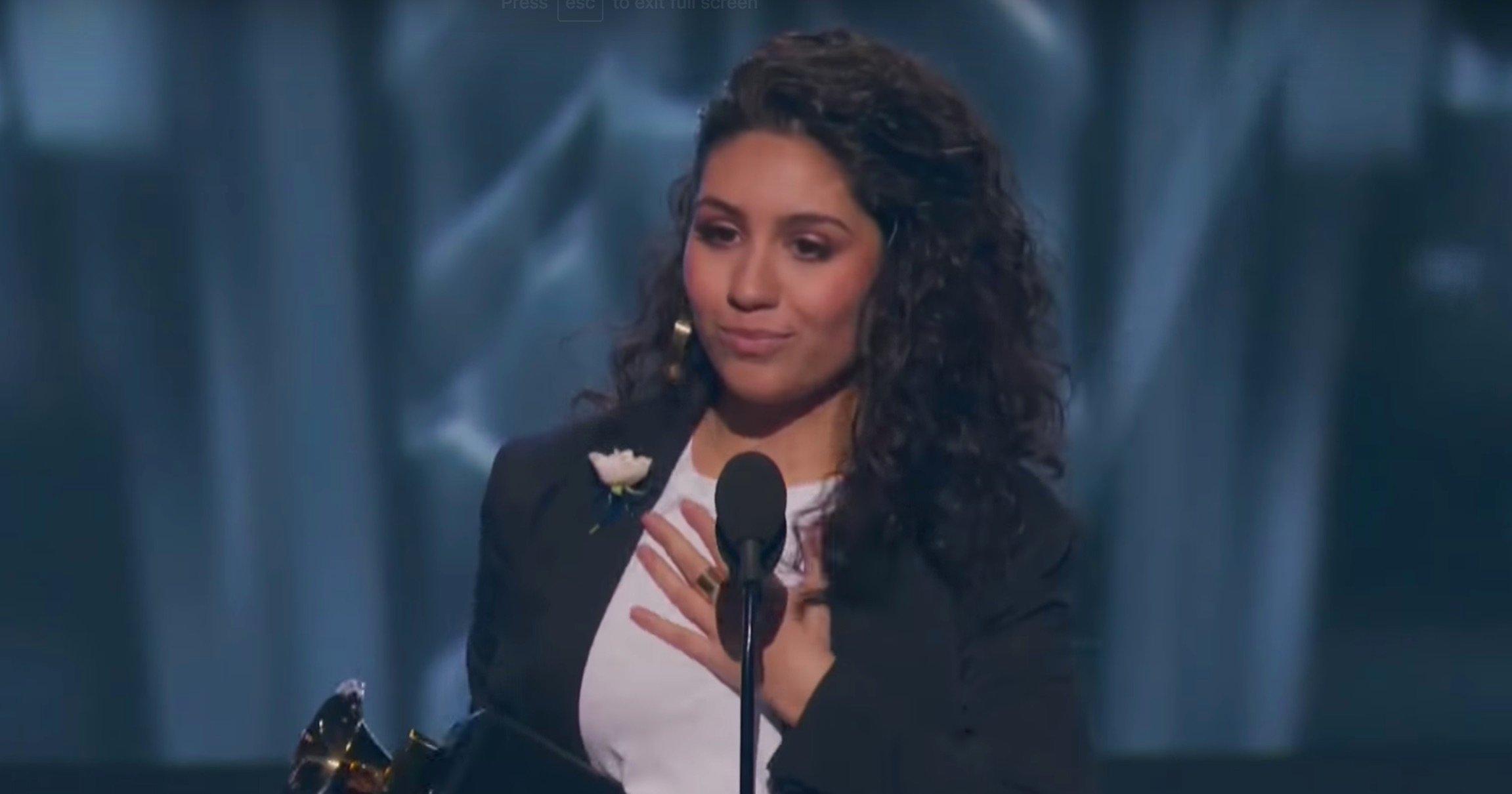 Alessia Cara winning a Grammy